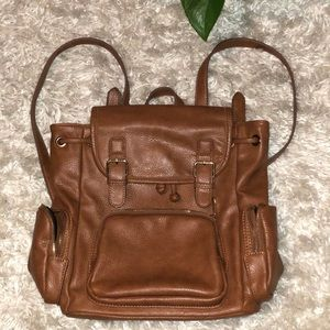 Faux leather women's backpack